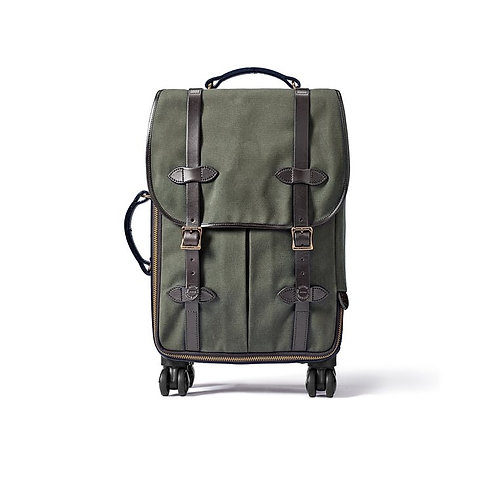 Filson Rugged Twill Rolling 4-Wheel Carry-On Bag - Otter Green