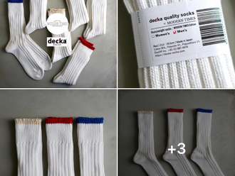 【MODERN TIMES WORLDWIDE EXCLUSIVE 獨家限定商品・HANDMADE IN JAPAN 日本精工手製・MODERN TIMES × DECKA CLASSIC SOCKS