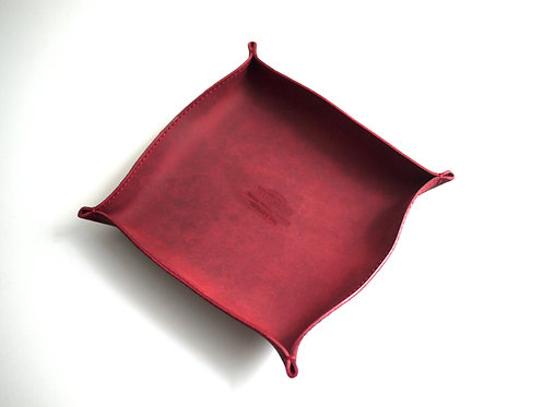 Roberu for Modern Times Leather Tray L - Red