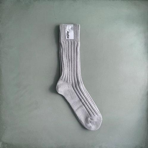 Decka Plain Socks 56N - Silver