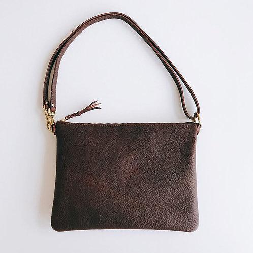 Roberu Italy Leather 3 Way Pouch - Dark Brown