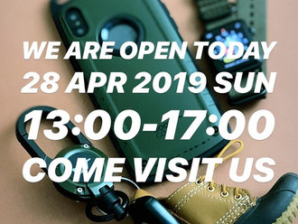 【WE ARE OPEN | 28 APR 2019 SUN】