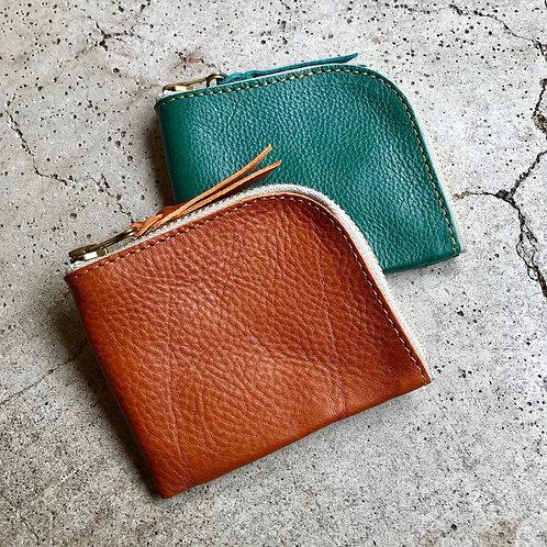Roberu Italy Vachetta Leather New Short Zip Wallet