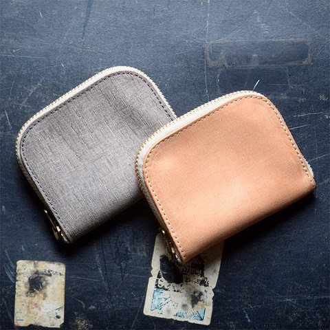 Roberu Italy Vachetta Leather Half Round Wallet