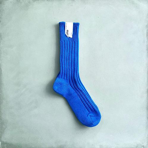 Decka Plain Socks 56N - Indigo Blue