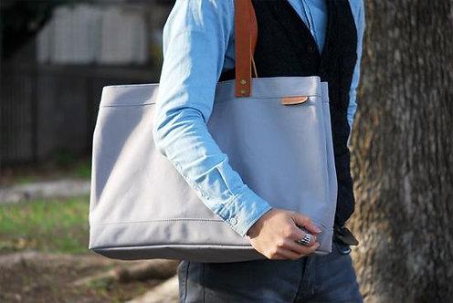 Roberu Wax Canvas Tote Bag - Gray