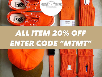 """【EXTENDED 延長一周!20% OFF 限時八折 UNTIL 31 MAY 2021・""""MTMT"""" THANKFUL EVENT 感謝活動】"""