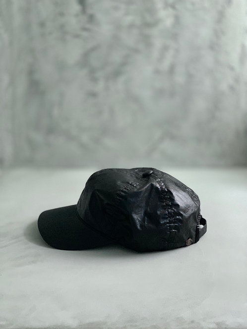 Morno European Fabric Garment Dyed Coating Cap - Black