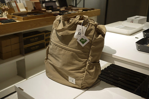 F/CE. Wash Nylon Packable 3 Way Tote Bag - Beige