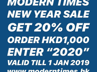 【LAST DAY 最後今天・MODERN TIMES YEAR END SALE | 年末感謝活動】