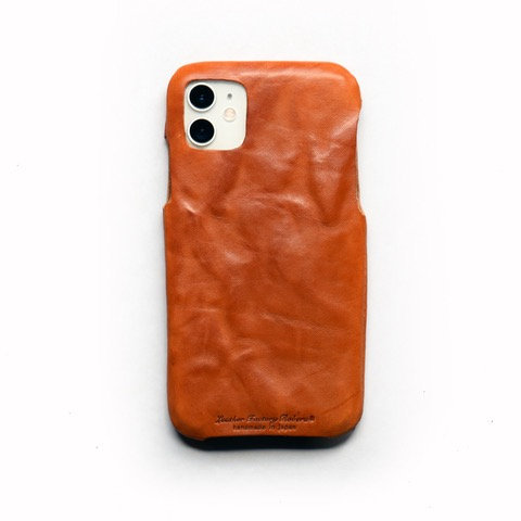 Roberu Italy Leather iPhone 11 Case - Wash Camel