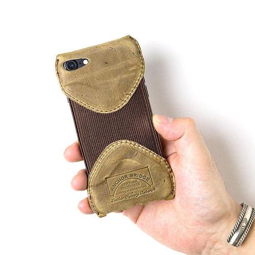 Roberu × Anchor Bridge Kudu Leather iPhone SE Case