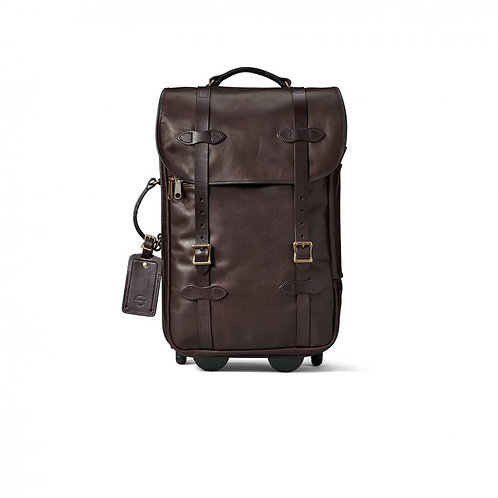 Filson Weather Proof Leather Rolling Carry-On Bag
