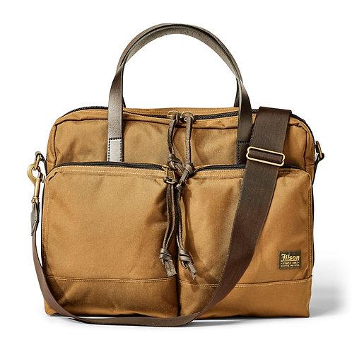 Filson Ballistic Nylon Dryden Briefcase - Whiskey