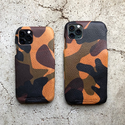Roberu Italy Camouflage Leather iPhone Case - Brown