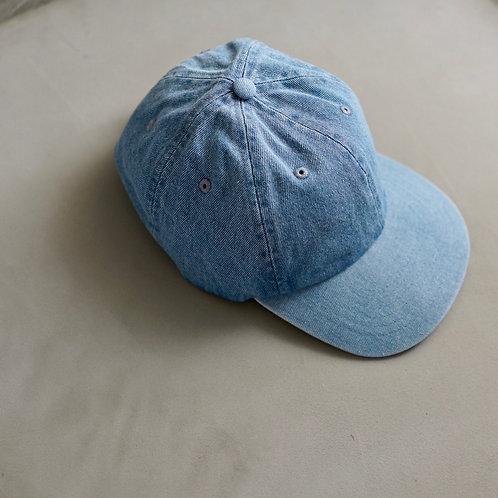 Denim Baseball Cap - Light Blue