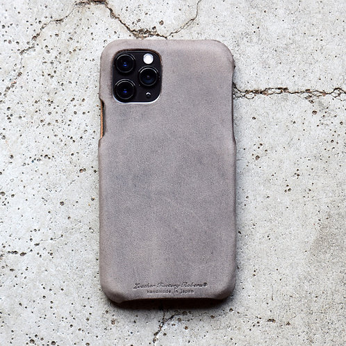 Roberu Italy Leather iPhone Case - Gray
