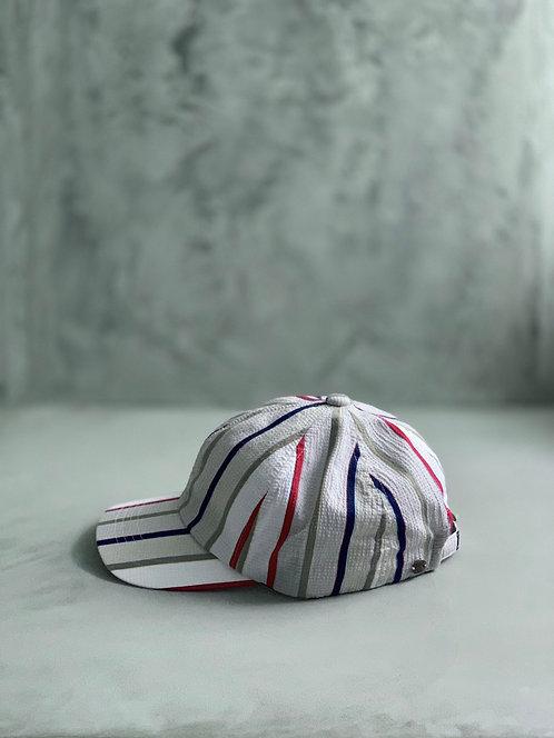 Morno European Fabric Multi Stripe Cap