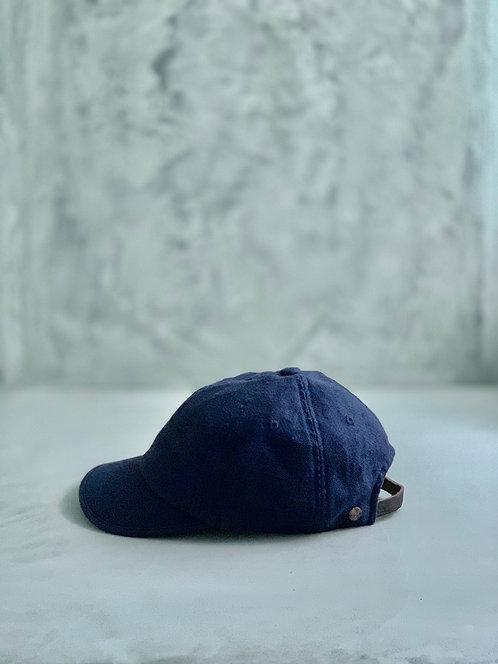 Morno Linen Wash Cap - Navy