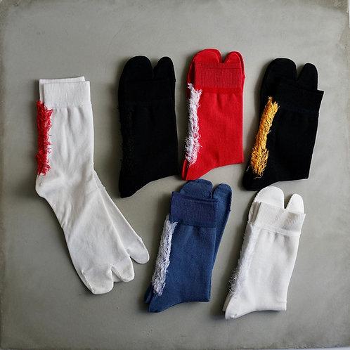BRU NA BOINNE × decka quality socks Mohican Socks / Split Toe Stile
