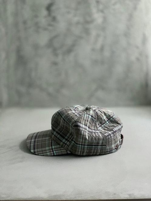 Morno European Fabric Check Cap