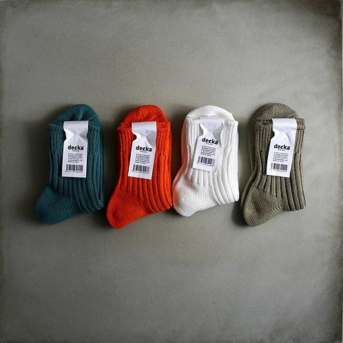 Decka Plain Socks 56N Short Ver.