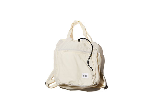 F/CE. Wash Nylon Packable 3 Way Tote Bag - White