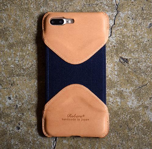 Roberu Leather iPhone 7P / 8P Case - Natural