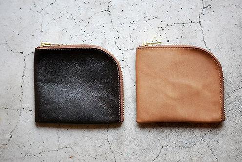Anchor Bridge Horse Leather Zip Wallet