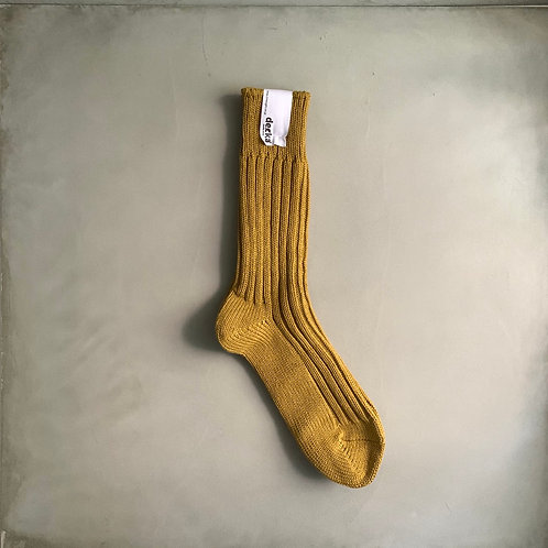 Decka Plain Socks 56N - Yellow