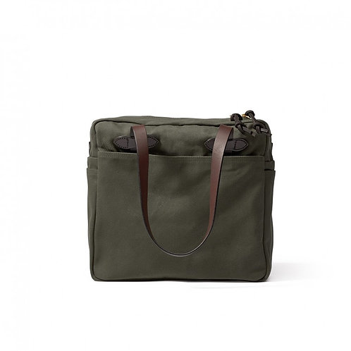 Filson Zippered Twill Tote - Otter Green