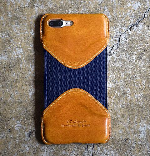 Roberu iPhone 7P / 8P Case - Camel/Navy