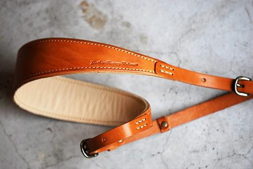 Roberu Natural Tanned Leather Camera Strap -Natural