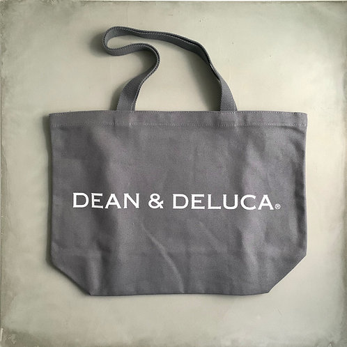 Dean and Deluca Canvas Tote Bag - Gray