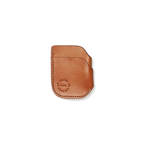 Filson Bridle Leather Front Pocket Cash and Card Case - Tan