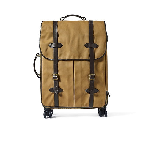 Filson Rugged Twill Rolling 4-Wheel Check-In Bag - Tan