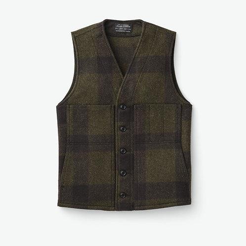Filson Mackinaw Wool Vest - Forest Green/Brown