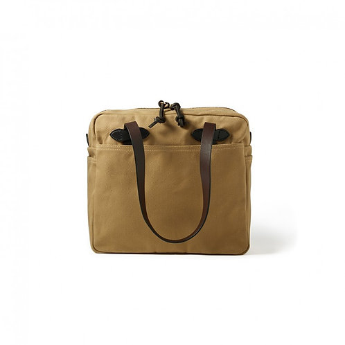 Filson Zippered Twill Tote - Tan