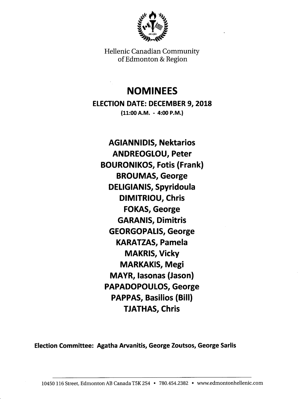 Board of Directors 2019 Interim Elections