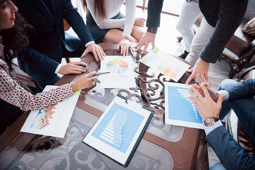marketing-plan-researching-paperwork-on-