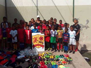 Valeo Futbol Foundation sends soccer gear and equipment to Academy in Cape Verde