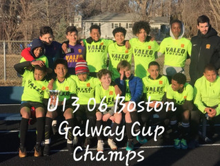 Valeo FC Boston Capture 4 Galway Cup Championships