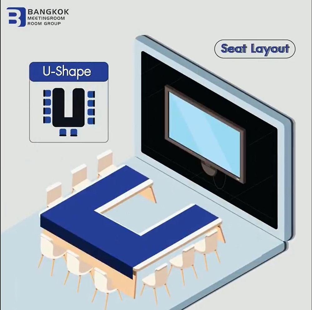 U-Shape รูปแบบสำหรับห้องประชุมขนาดเล็ก