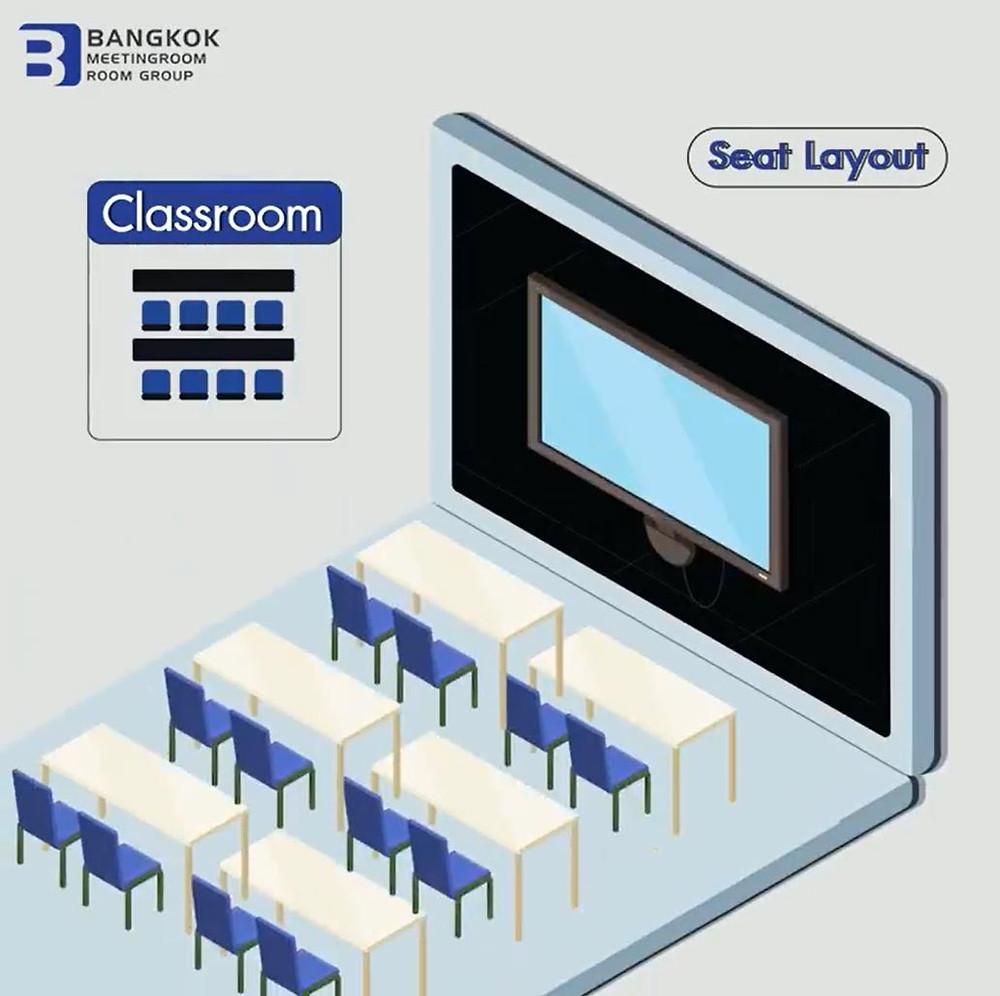 Class room รูปแบบสำหรับห้องประชุมขนาดกลาง