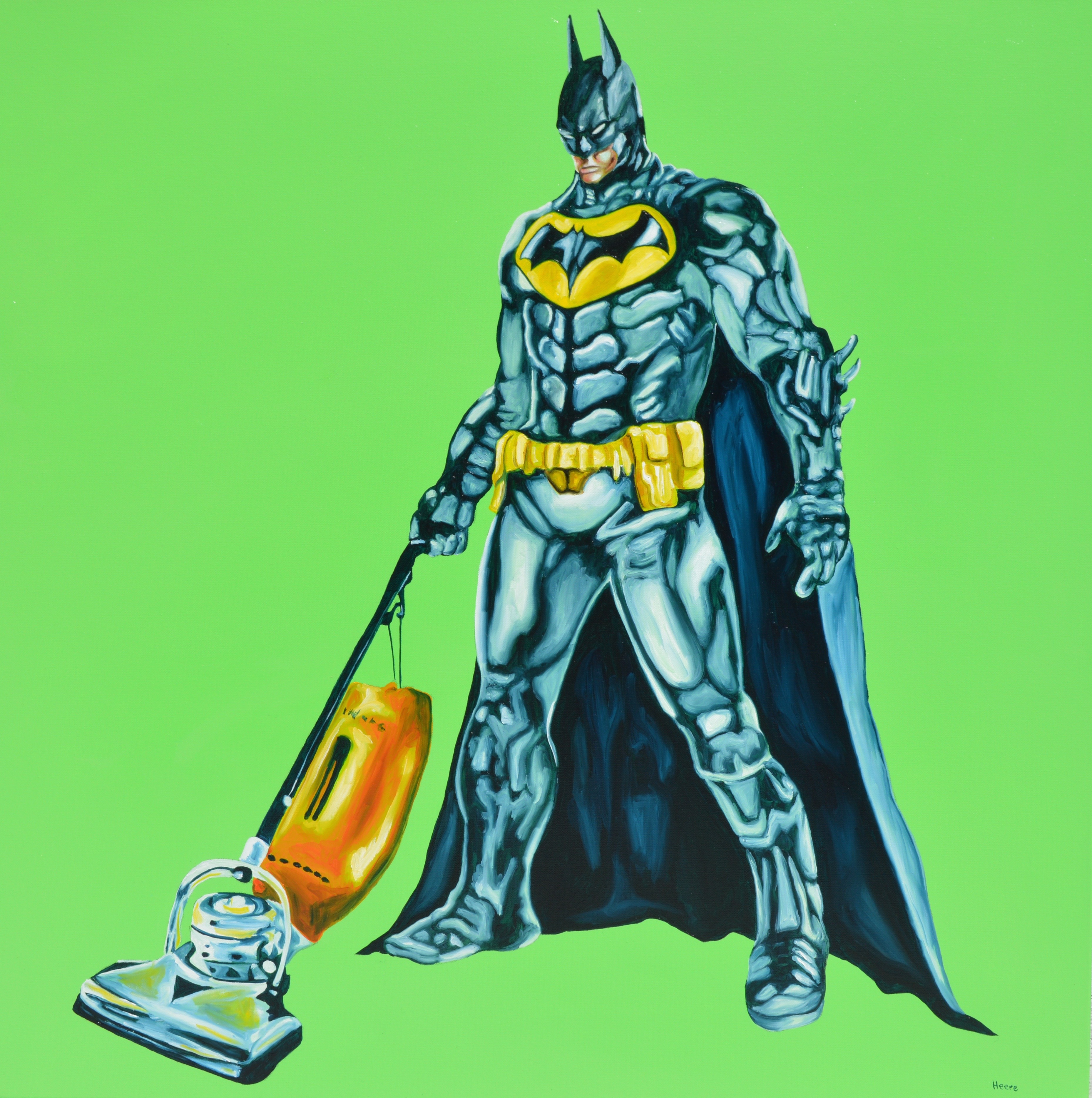 Batman Vacuuming