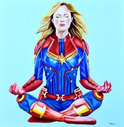 Captain Marvel Meditating