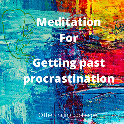 Letting go of procrastination