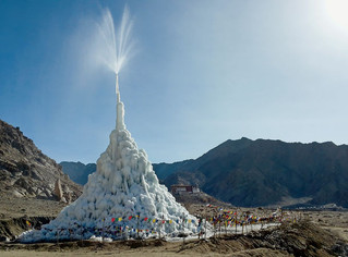 Ледяная ступа против засухи
