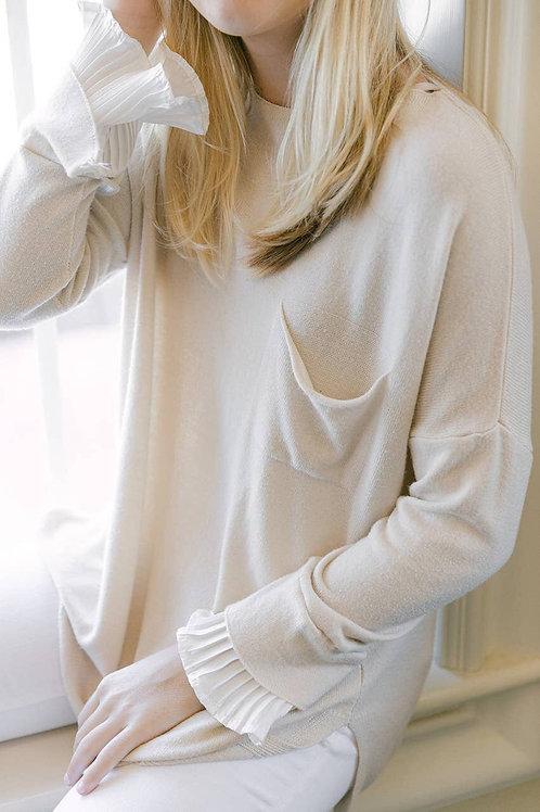 Ivory Ruffle Detail Sweater