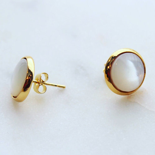 Mother of Pearl Stud Earrings